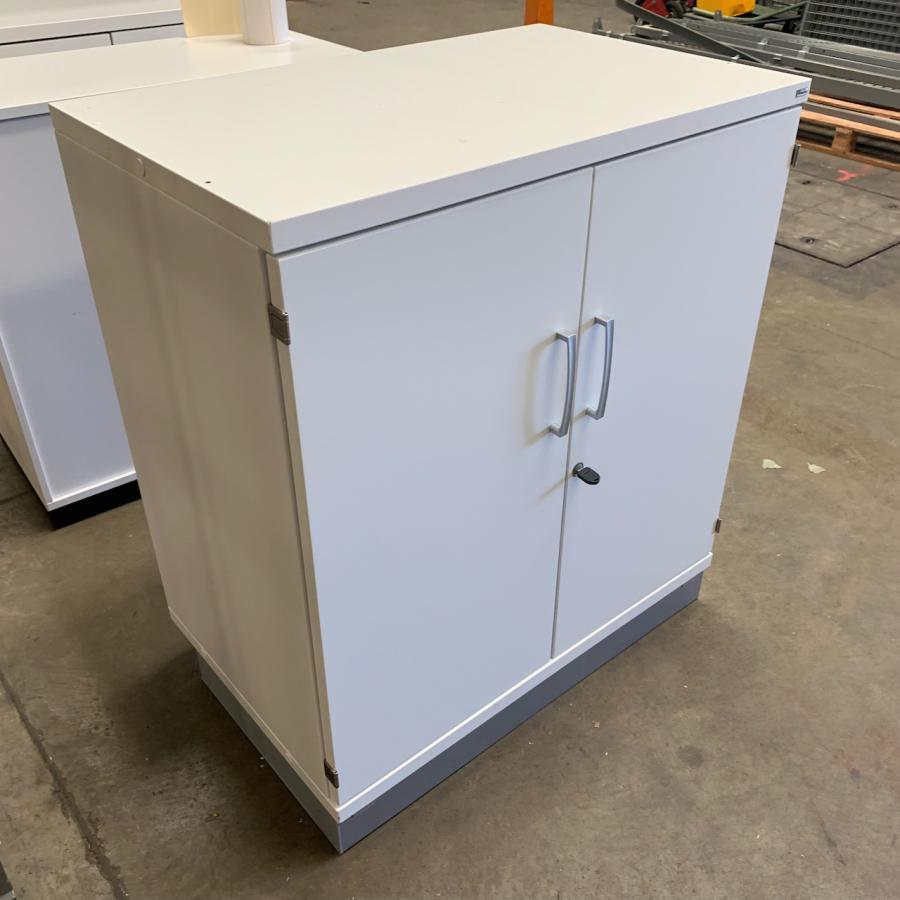Kinnarps White 915H x 800W x 500D Office Cupboard