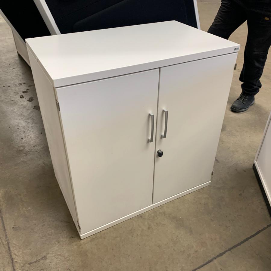 Kinnarps White 830H x 800W x 500D Office Cupboard