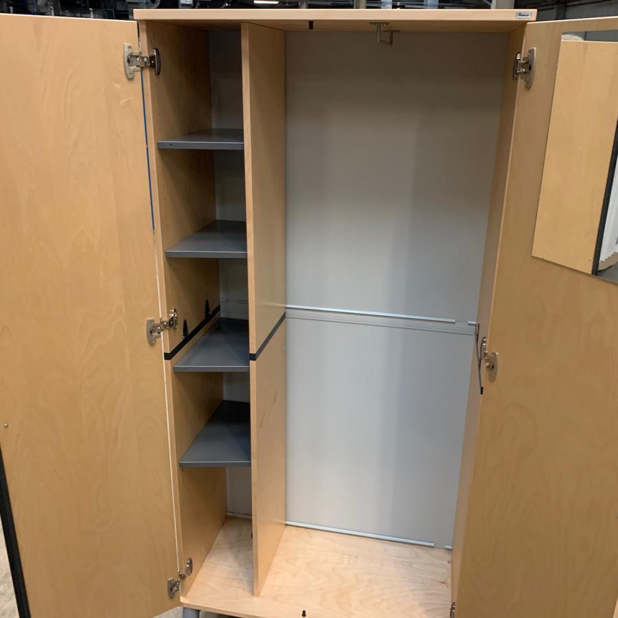 Kinnarps Maple Veneer 1730H x 800W x 400D Office Cupboard