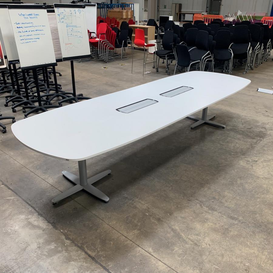 Kinnarps White 3600x1200 Meeting Table