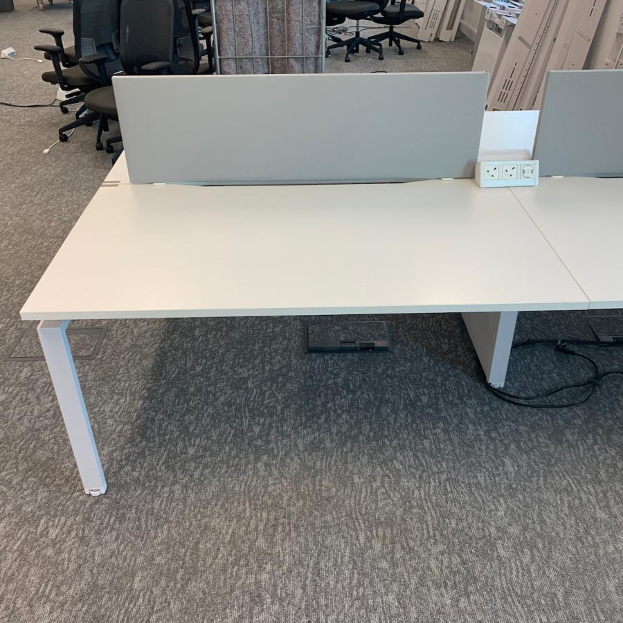 White 1400x800 Bench Desks