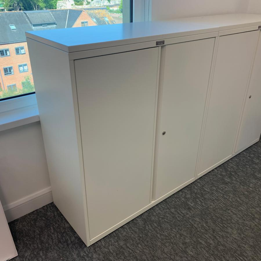 Bisley System White 1175H Office Cupboard