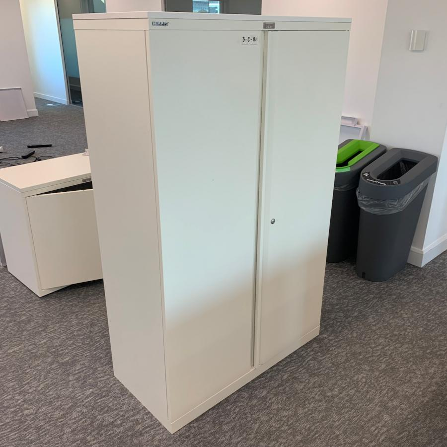 Bisley System White 1590H Office Cupboard