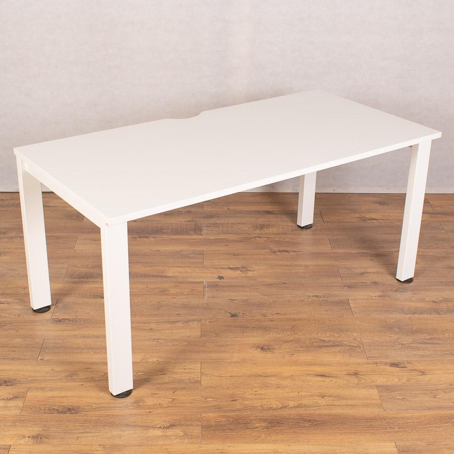 Senator Freeway White 1600x800 Single Bench Desk