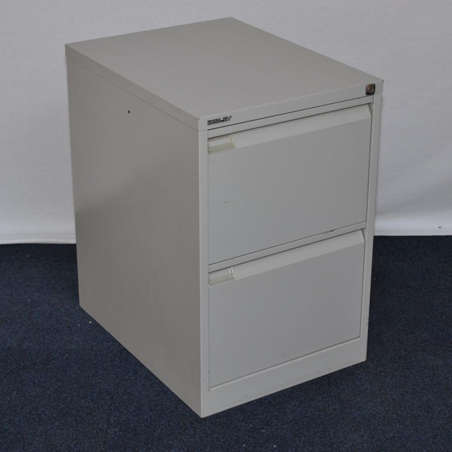 Bisley Bs2e Goose Grey 2 Drawer Filing Cabinet