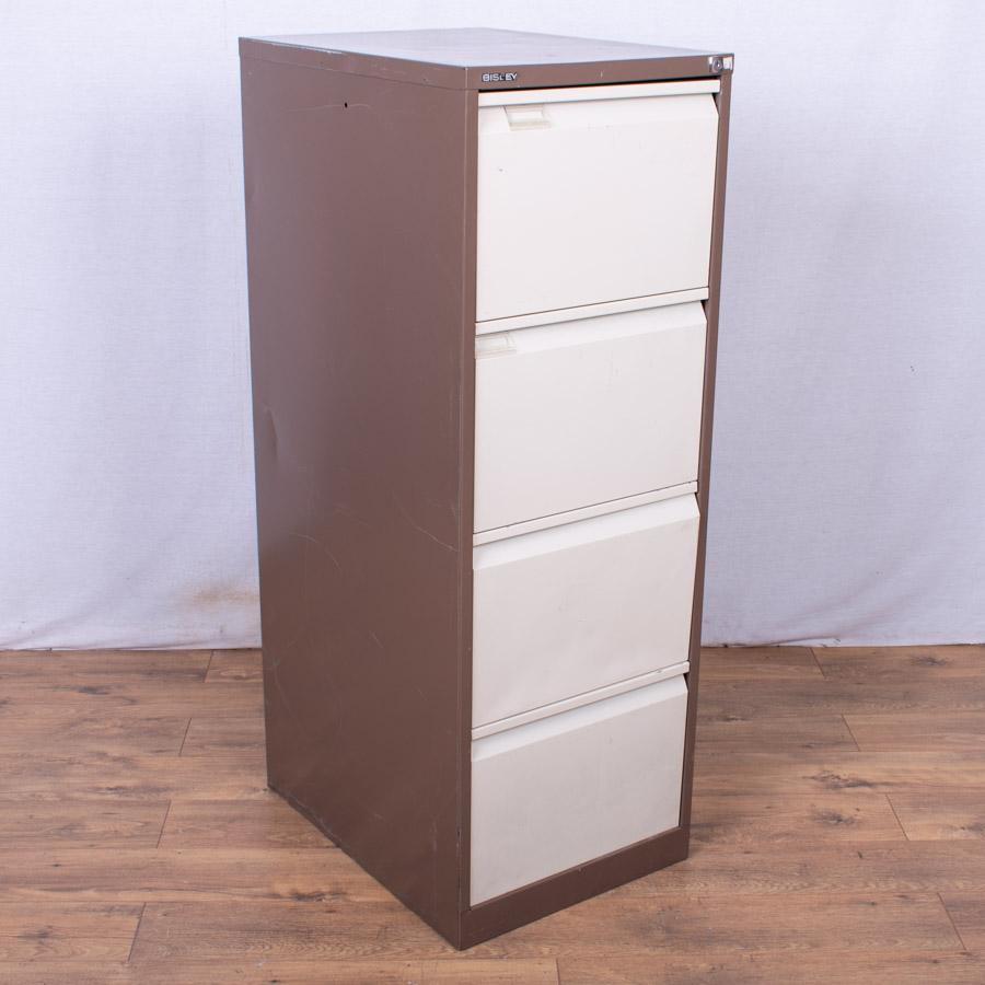 Bisley BS4E Brown/Cream 4 Drawer Filing Cabinet