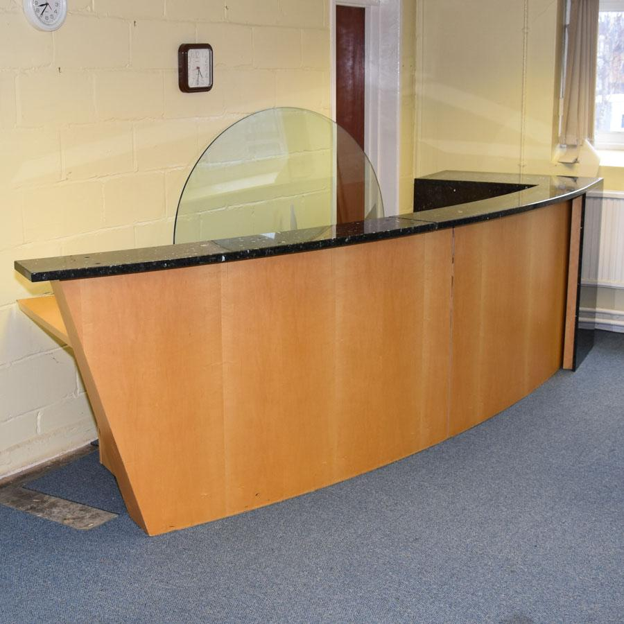 Maple/Marble Large Reception Desk