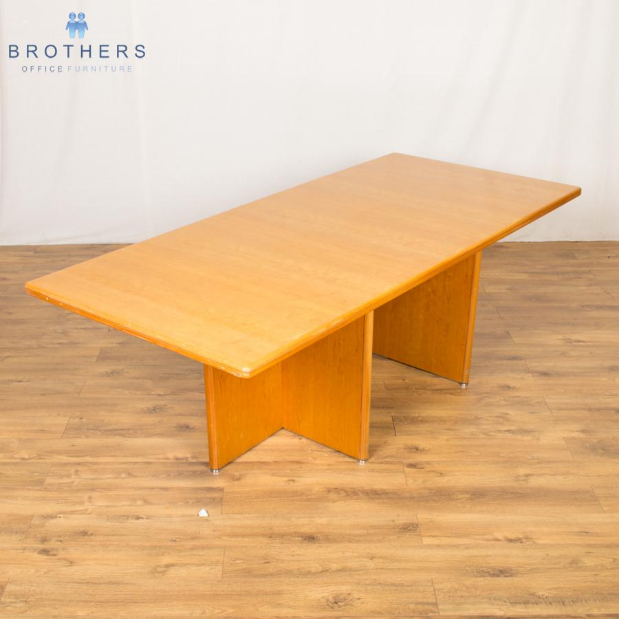 Layer Cherry Veneer 2250x1000 Meeting Table