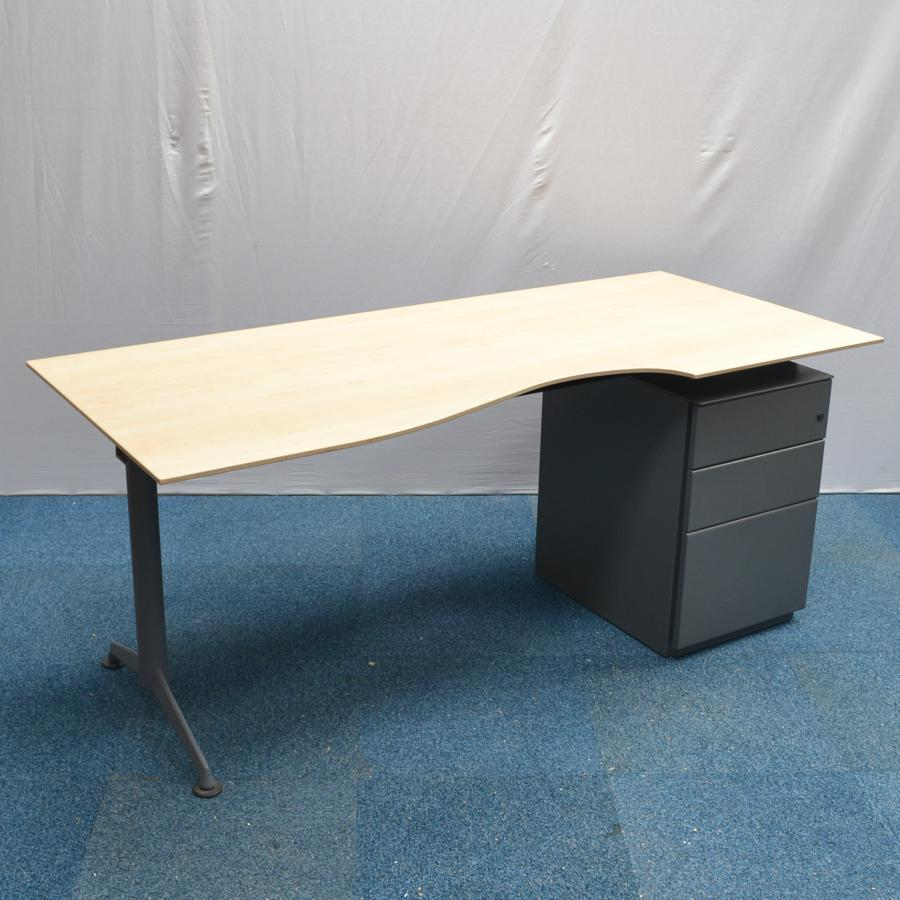 Herman miller abak maple 1800x800 scallop desk - Herman miller office desk ...