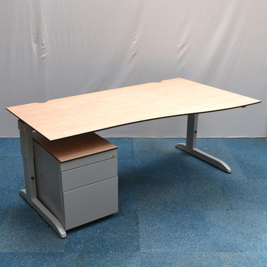 Techo Maple 1600 Height Adjustable Wave Desk