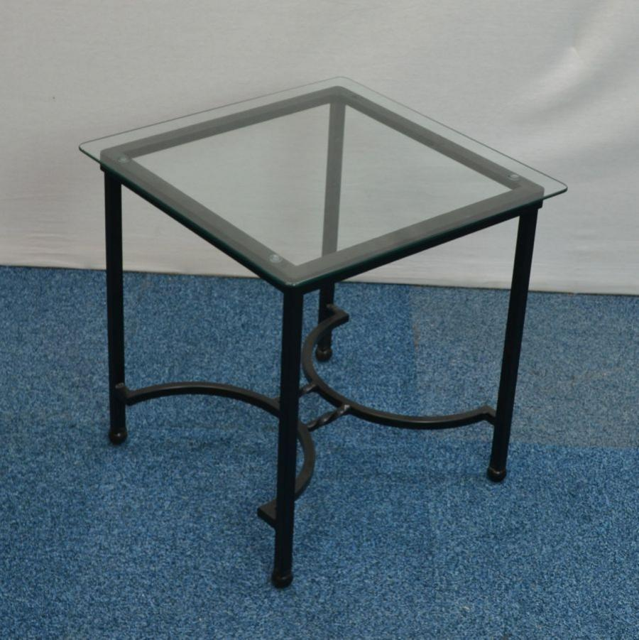 Glass 510H Square Coffee Table