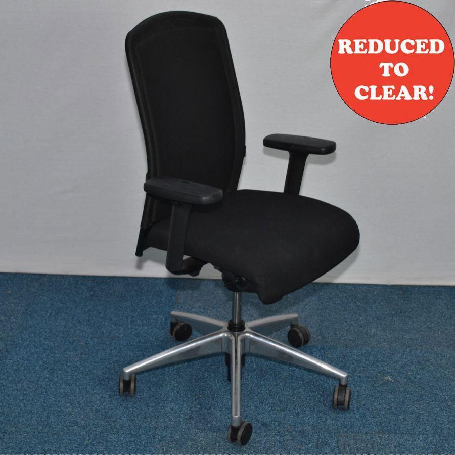 Girsberger Black Mesh Operators Chair