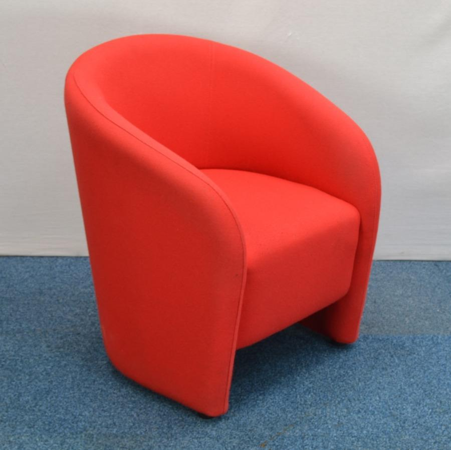 Lf Red Fabric Tub Chair