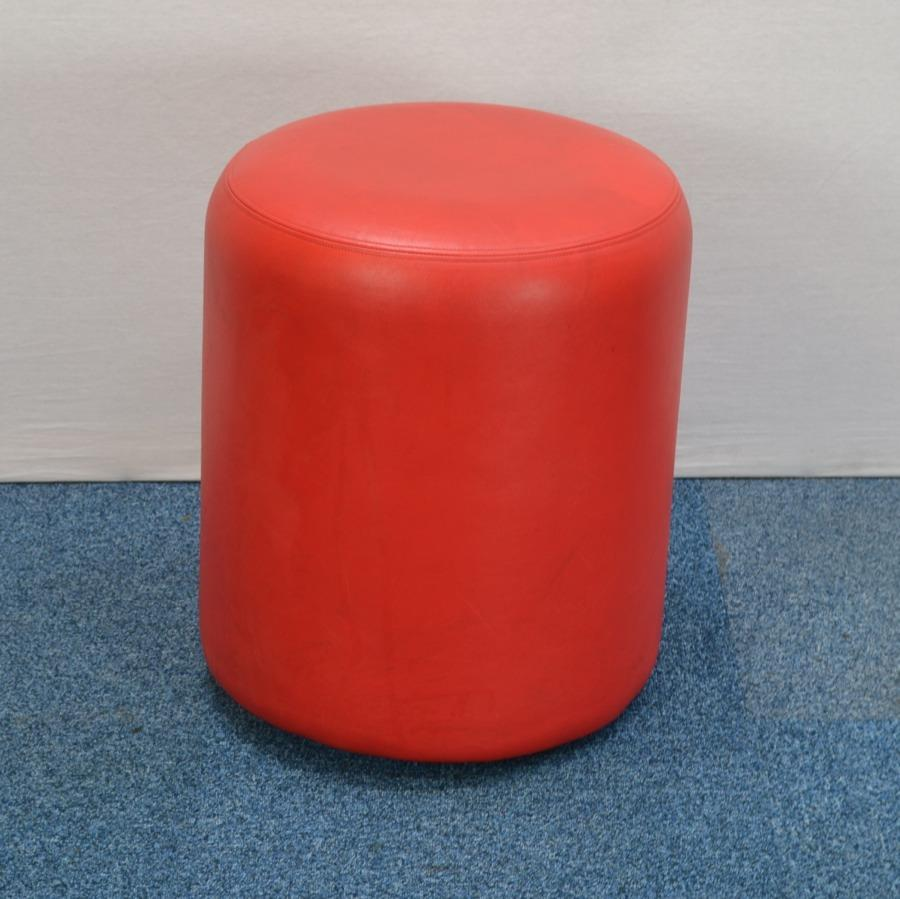 Red Leather Foot Stool