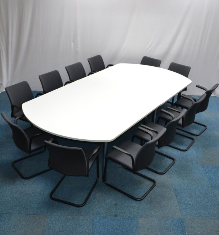 White 3000x1500 Boardroom Table