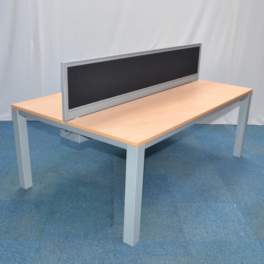 Uni Beech 2000x600 Bench Desks