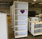 Kinnarps White 2315H x 800W x 400D Bookcase