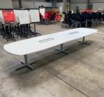 Kinnarps White 4400x1200 Meeting Table